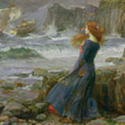 Miranda Poster by John William Waterhouse