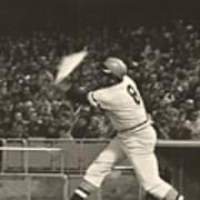 Pittsburgh Pirate Willie Stargell Batting At Dodger Stadium  Poster by Jamie Baldwin