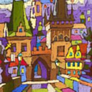 Prague Charles Bridge 01 Poster by Yuriy  Shevchuk