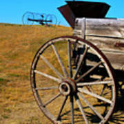 Rustic Wagon Poster by Perry Webster