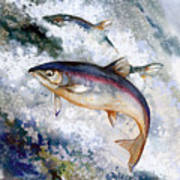 Silver Salmon Poster by Peggy Wilson