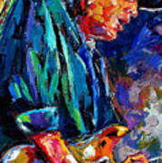 Stevie Ray Vaughan Poster by Debra Hurd