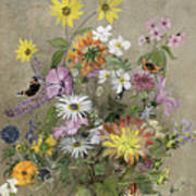 Summer Flowers Poster by John Gubbins