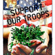 Support Our Troops Poster by Ernestine Grindal
