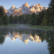 Teton Reflections Poster by Andrew Soundarajan