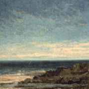 The Sea Poster by Gustave Courbet