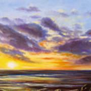 Tropical Sunset Poster by Gina De Gorna