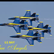 Us Navy Blue Angels Poster Poster by Dustin K Ryan