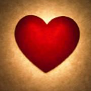 Valentine Heart Poster by Tony Cordoza