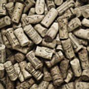 Vintage Wine Corks Poster by Frank Tschakert