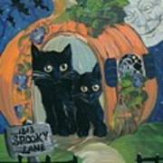 1313 Spooky Lane Poster by Sylvia Pimental