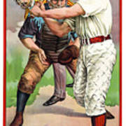 1895 In The Batters Box Poster by Daniel Hagerman
