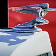1937 Packard 2-door Touring Hood Ornament Poster by Jill Reger