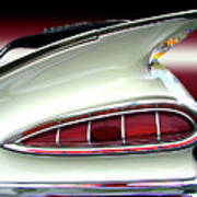 1959 Chevrolet Impala Tail Poster by Peter Piatt
