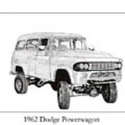 1962 Dodge Powerwagon Poster by Jack Pumphrey