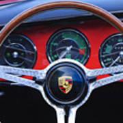1964 Porsche C Steering Wheel Poster by Jill Reger