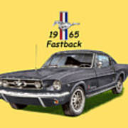 1965 Mustang Fastback Poster by Jack Pumphrey