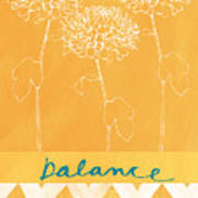 Balance Poster by Linda Woods