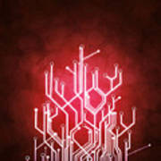 Circuit Board Poster by Setsiri Silapasuwanchai