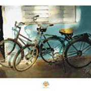 2 Cuban Bicycles Poster by Bob Salo