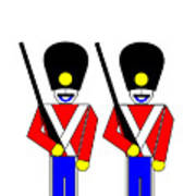 2 Guardsmen Poster by Asbjorn Lonvig