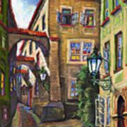 Prague Old Street Poster by Yuriy  Shevchuk