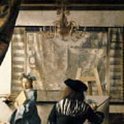 The Artist's Studio Poster by Jan Vermeer
