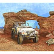 2005 Jeep Rubicon 4 Wheeler Poster by Jack Pumphrey