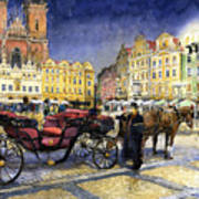 Prague Old Town Square Poster by Yuriy  Shevchuk