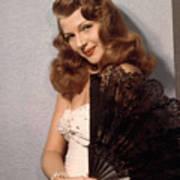 Rita Hayworth, Ca. 1940s Poster by Everett
