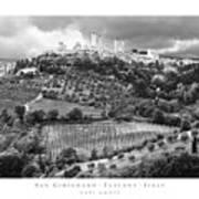 San Gimignano Tuscany Italy Poster by Carl Amoth