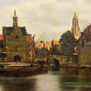 View Of Delft Poster by Jan Vermeer