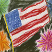 4th Of July Poster by Jessika and Art with a Heart In Healthcare