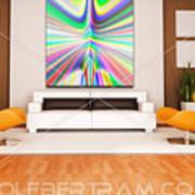 An Example Of Modern Art By Rolf Bertram In An Interior Design Setting Poster by Rolf Bertram