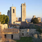 San Gimignano Poster by Andre Goncalves