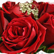 A Bouquet Of Red Roses Poster by Sue Melvin