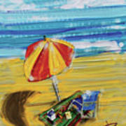 A Day At The Beach Poster by Russell Pierce
