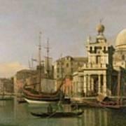 A View Of The Dogana And Santa Maria Della Salute Poster by Antonio Canaletto