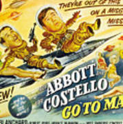 Abbott And Costello Go To Mars, Bud Poster by Everett