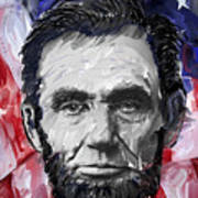 Abraham Lincoln - 16th U S President Poster by Daniel Hagerman