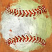 Abstract Baseball Poster by David G Paul