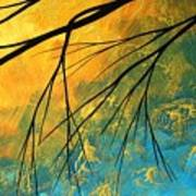 Abstract Landscape Art Passing Beauty 2 Of 5 Poster by Megan Duncanson