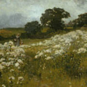 Across The Fields Poster by John Mallord Bromley