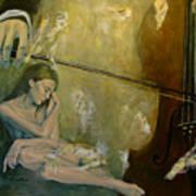 Adagio  Sentimental Confusion Poster by Dorina  Costras