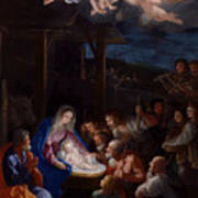 Adoration Of The Shepherds Poster by Guido Reni