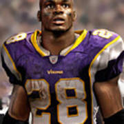 Adrian Peterson Standing Poster by Douglas Petty
