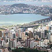 Aerial View Of Florianópolis Poster by DircinhaSW