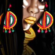 African Princess Poster by Kia Kelliebrew