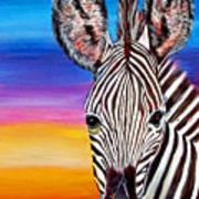 African Zebra Aura Poster by Donna Proctor