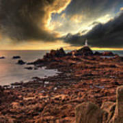 after the storm at La Corbiere Poster by Meirion Matthias